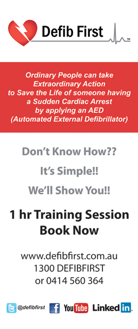 AED (Automated External Defribrillator) 1 hour training session