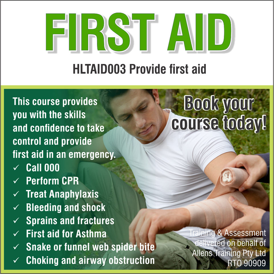 HLTAID003.Provide First Aid.Allens Training.Image 2