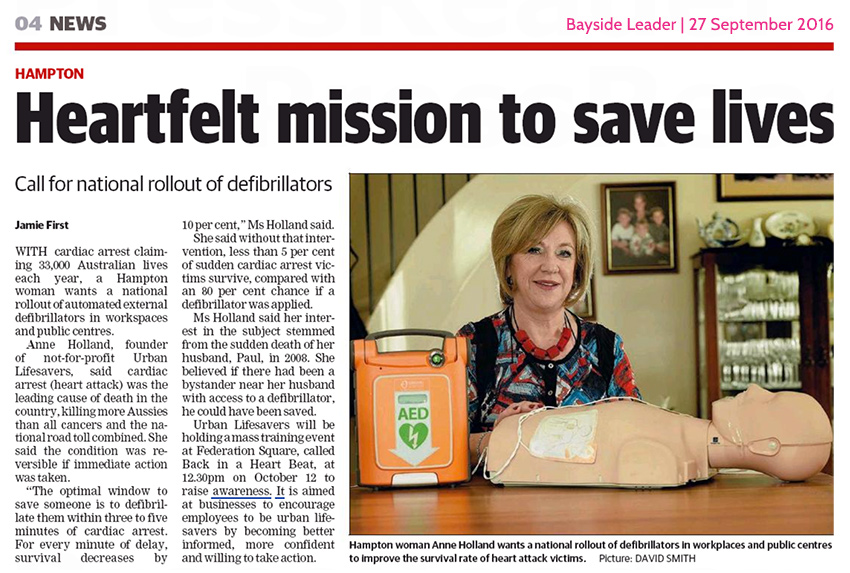 Heartfelt mission to save lives